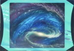 Spiral Galaxy with Green Border
